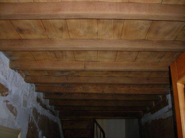 decapage plafond bois