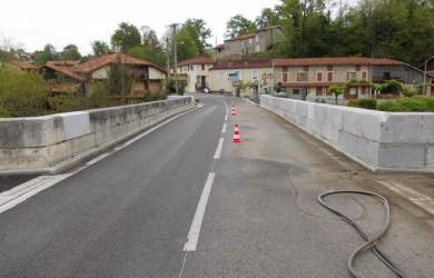 aerogommage de pont en pierre