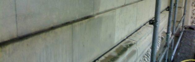 hysrogommage façade pierre